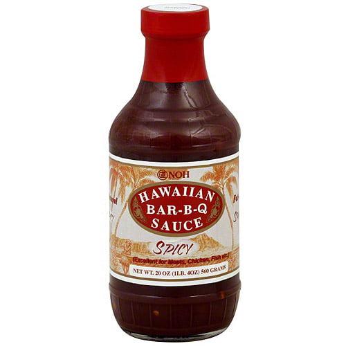 Noh Of Hawaii Spicy Hawaiian Bar-B-Q Sauce, 20 oz (Pack of 6)