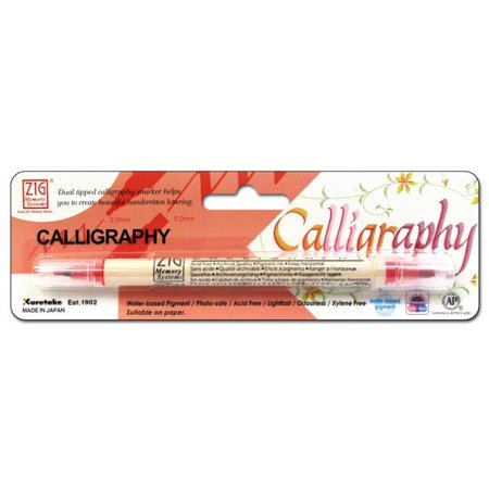 Zig Calligraphy Pen Pkg Pure Red ()