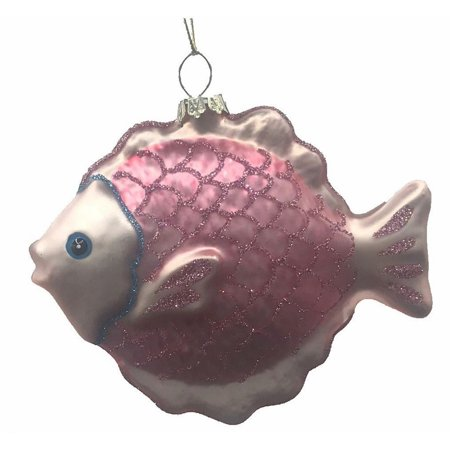 Blown Glass Pink Tropical Fish Ornament ()