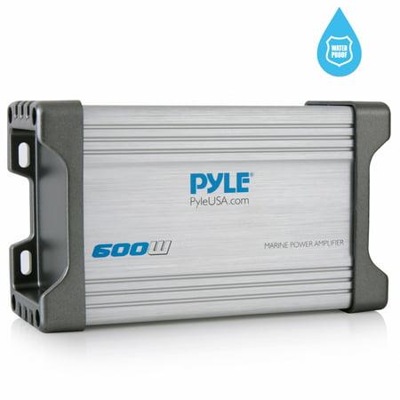 Pyle PLMRMP2A - 2-Channel Waterproof Rated Marine Amplifier Kit - Marine  Grade Component Audio Amp, AUX/RCA/MP3 Input (600 Watt MAX)