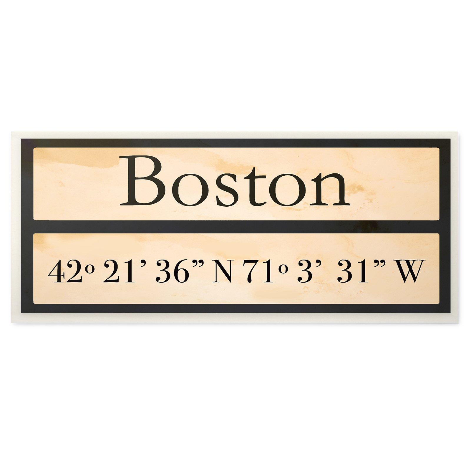 Home Decor Boston: The Stupell Home Decor Collection Boston City Coordinates