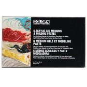 Golden® Introductory Gel Mediums and Molding Pastes Set, Assorted