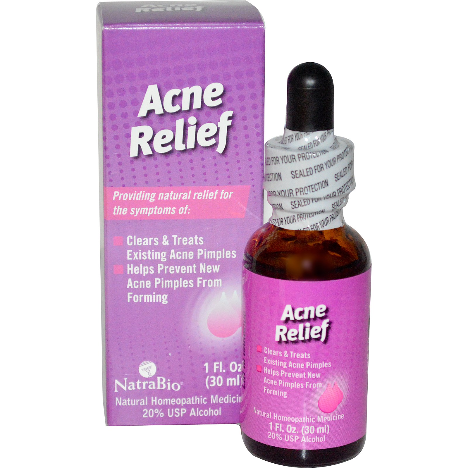 NatraBio, Acne Relief, 1 fl oz(pack of 12)