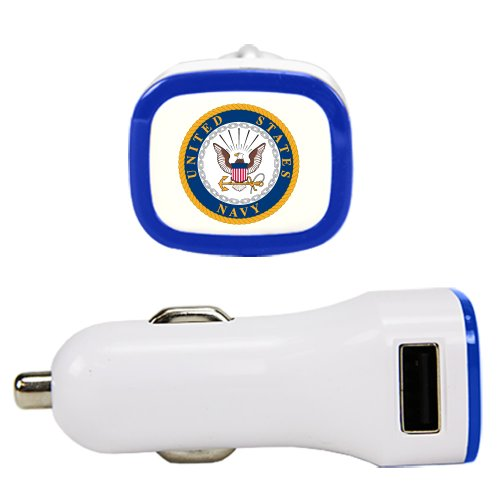 US Navy - Dual USB Car Charger White