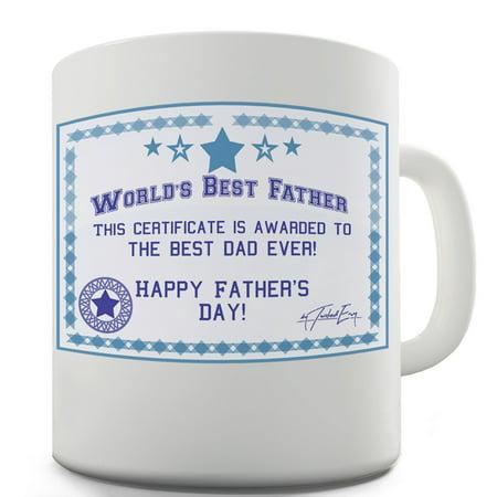 worlds best dad certificate funny mugs for work 15 oz walmart com