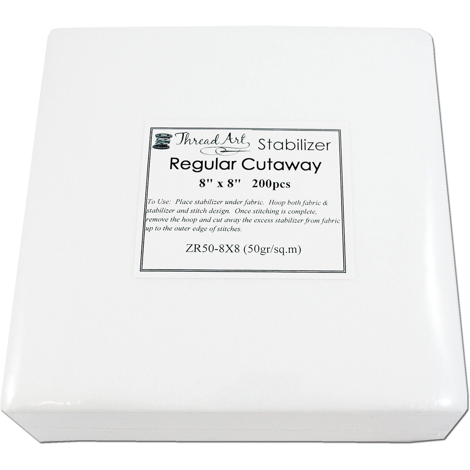 For Machine Embroidery Tearaway Sticky in Rolls and Precut Sheets Washaway Threadart Tearaway Embroidery Stabilizer 11x11 100 Precut Sheets Also Available Over 20 Additional Styles of Cutaway 1.6 oz Medium Weight