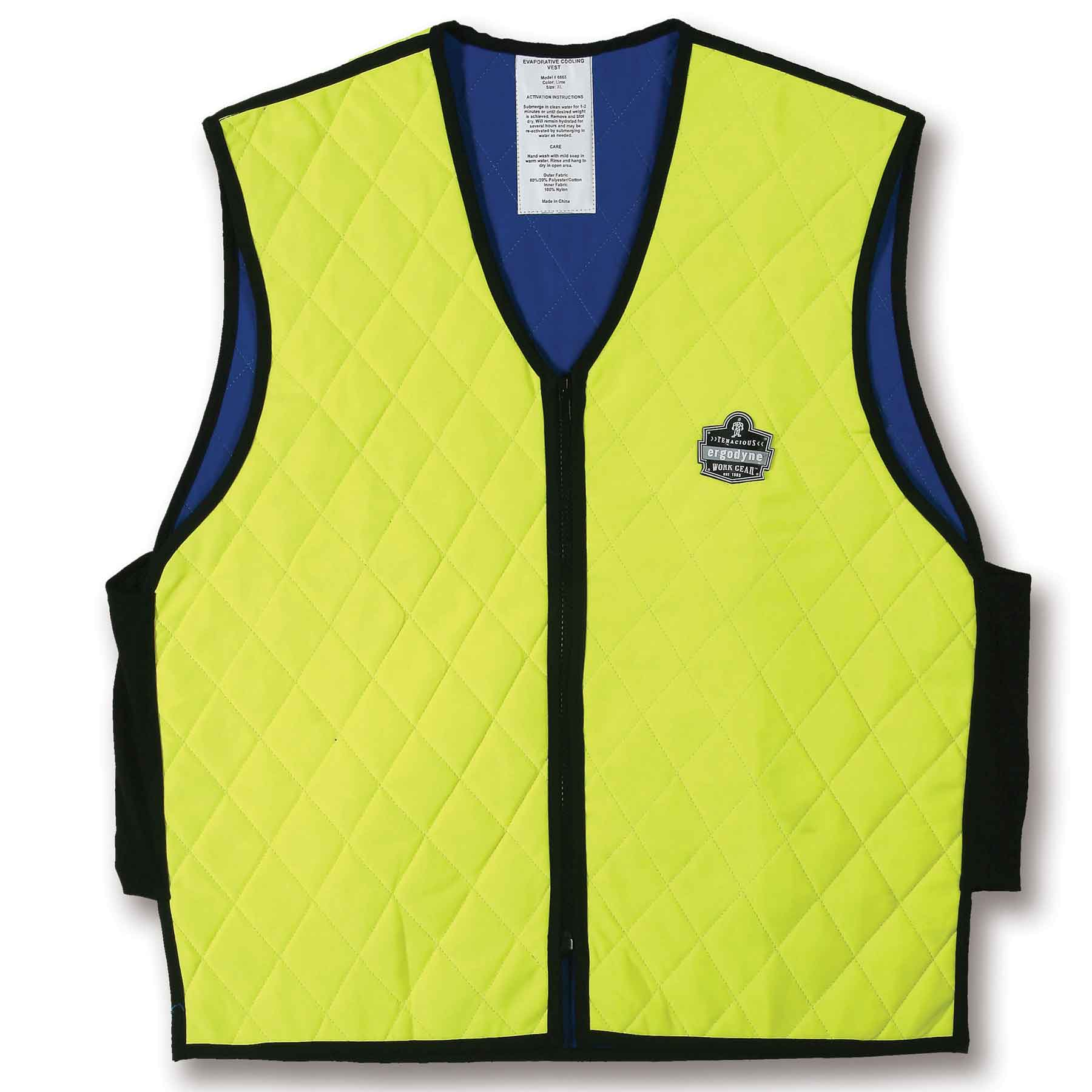Chill-Its 6665 Evaporative Cooling Vest -Lime, XXX-Large