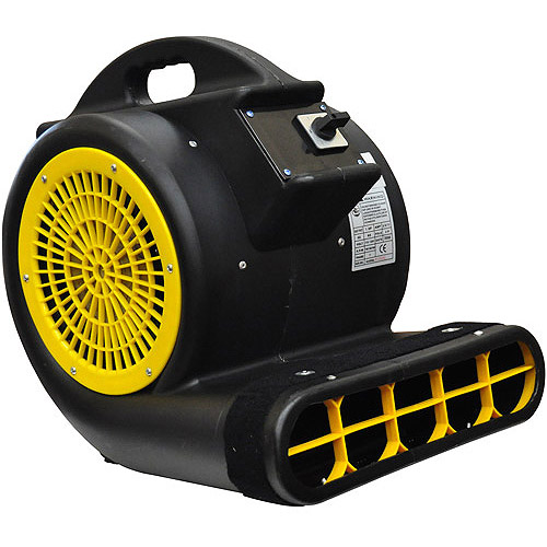 AirFoxx High Velocity 1 HP 3-Speed 3-Position 4000 CFM Air Mover/Carpet Dryer/Floor Dryer