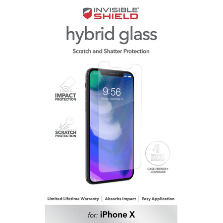 official photos 5dad7 45505 ZAGG InvisibleShield Hybrid Screen Protector for Apple iPhone X and XS