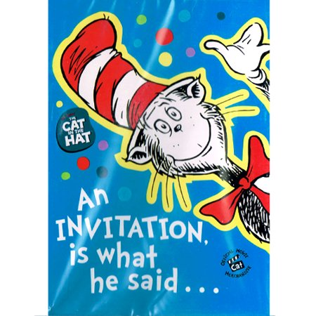 Cat in the Hat Invitations w/ Env. (8ct) (Cat In The Hat Invitations)