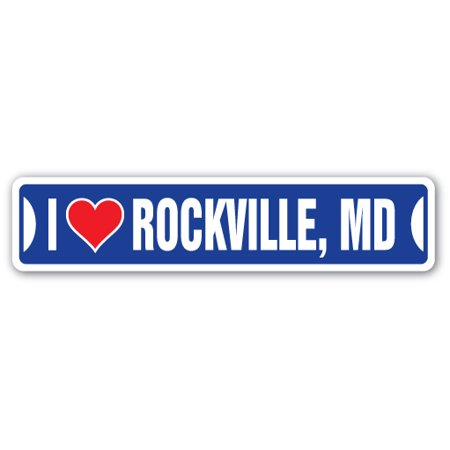 I Love Rockville  Maryland Street Sign Md City State Us Wall Road D Cor Gift
