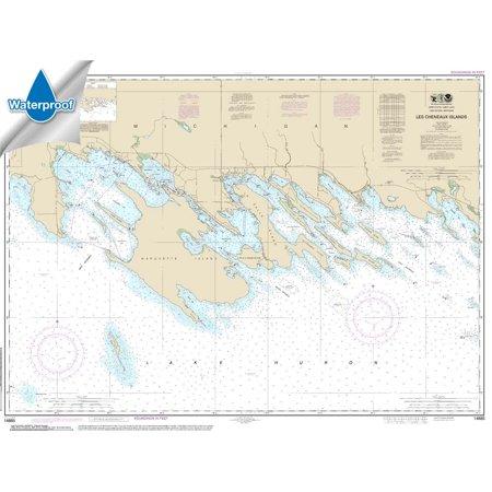 WATERPROOF NOAA Chart 14885: Les Cheneaux Islands (Large Print Waterproof Charts)