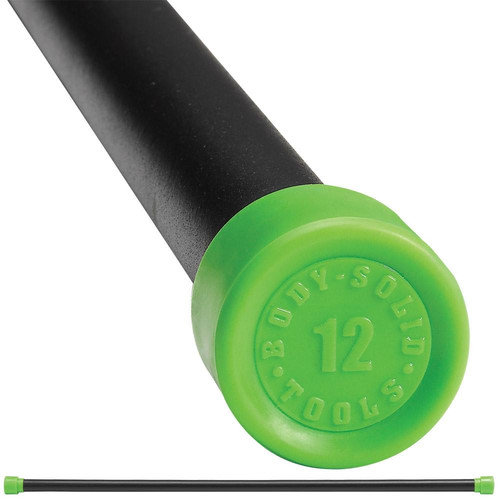 Body Solid Padded Weighted Bar in Green