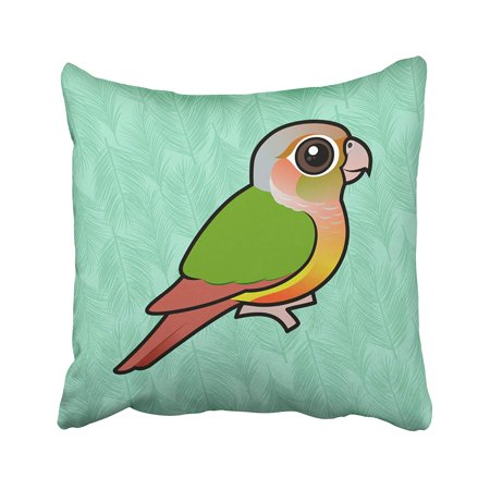 BPBOP Birdorable Pineapple Green Cheeked Conure Pillowcase 20x20