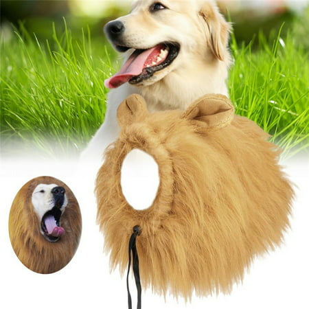 VGEBY Dog Wig Pet Costumes, Lion Mane Wig Pet Costume Fashionable Synthetic Fiber Pet Dog Puppy Wig for Festival Party Cosplay