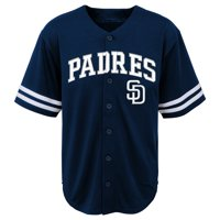 MLB San Diego PADRES TEE Short Sleeve Boys Fashion Jersey Tee 60% Cotton 40% Polyester BLACK Team Tee 4-18
