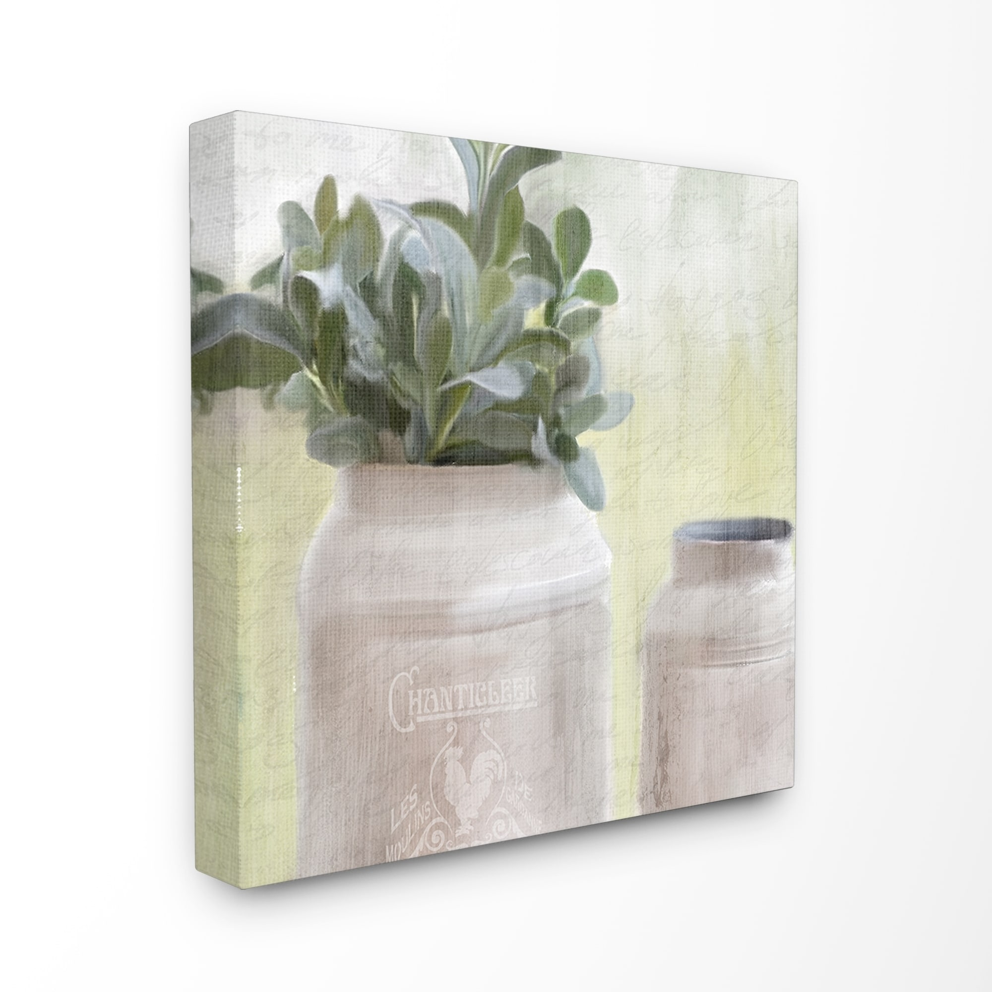 The Stupell Home Decor White Farmhouse Mill Can Filled With Greenery