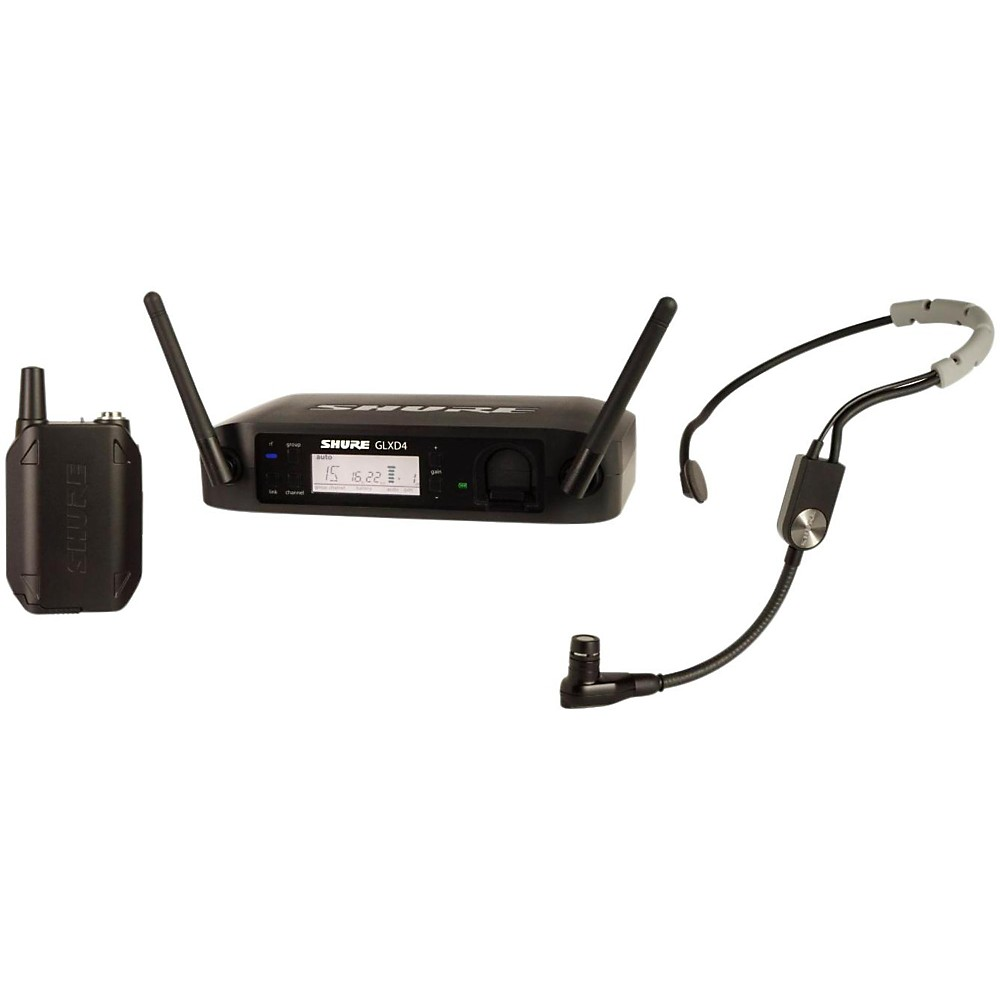 Shure GLX-D Digital Wireless Headset System with SM35 Headset microphone Band Z2 by Shure
