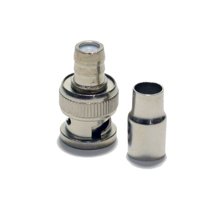 Male Crimp D-sub Connector - 50pcs Crimp on BNC Male Connector Adapter RG59 Coaxial Cable CCTV