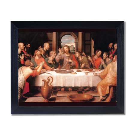 The Last Supper Jesus Christ Religious Wall Picture Black Framed Art Print