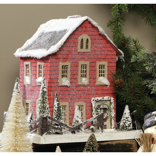 Ragon House Collection Red Christmas Cottage