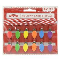 Holiday Time Christmas Bulb Holiday Card Display