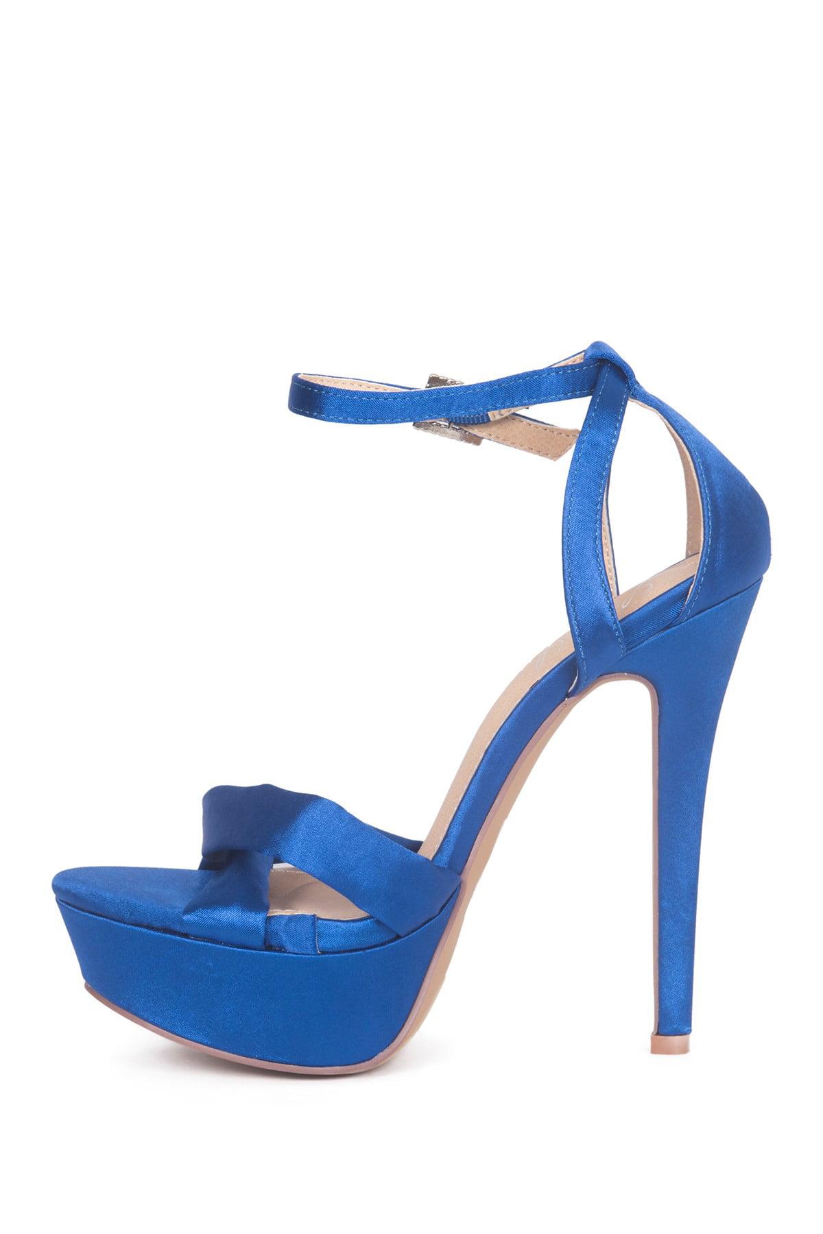 Lauren Lorraine Royal Blue Heidi Platform Special Occasion Sandal Royal Blue