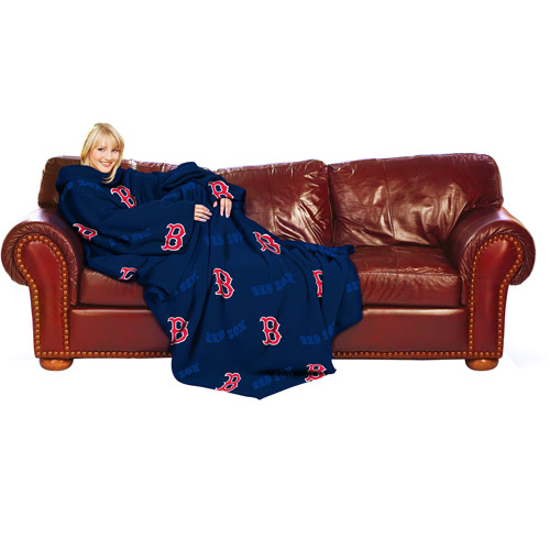 MLB Boston Red Sox Blanket with Sleeves