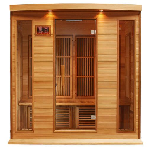 Dynamic Infrared 4 Person Carbon FAR Infrared Sauna by Overstock