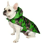 """Jelly Wellies Camouflage Raincoat, Large, 17"""", Green"""
