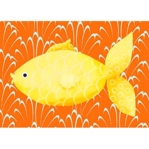 Oopsy Daisy's Lenny the Fish Canvas Wall Art, 14x10