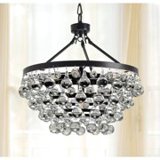 The Lighting Store Antique Black 5-light Crystal Drop Chandelier