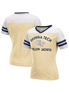 Georgia Tech Yellow Jackets Colosseum Girls Youth Faboo V-Neck T-Shirt - Gold