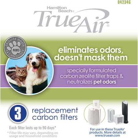 Hamilton Beach True Air Replacement Carbon Filter 3 Pack | Model# 04234G ()