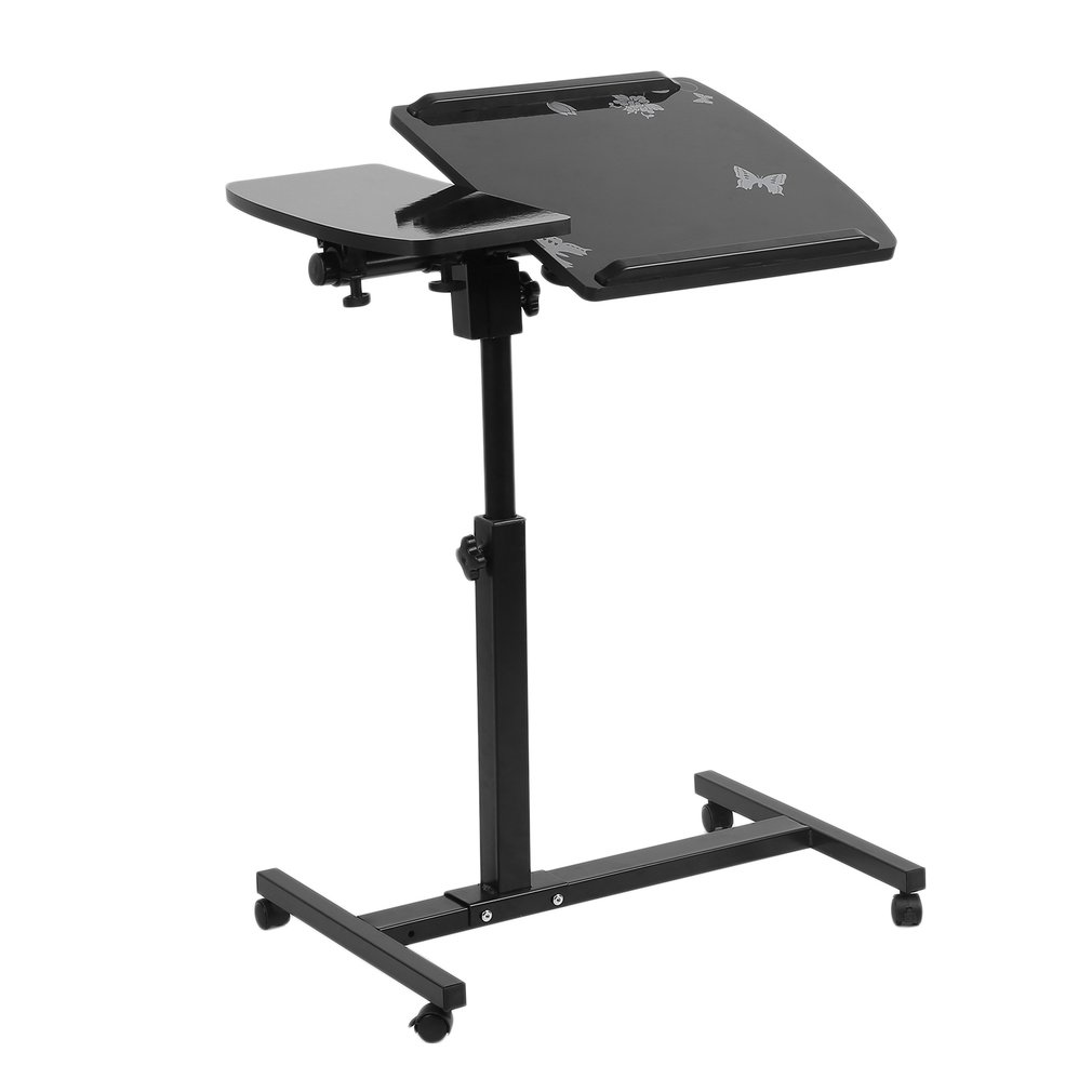 household lifting simple portable angle height adjustable rolling laptop computer pc notebook desk table stand bed