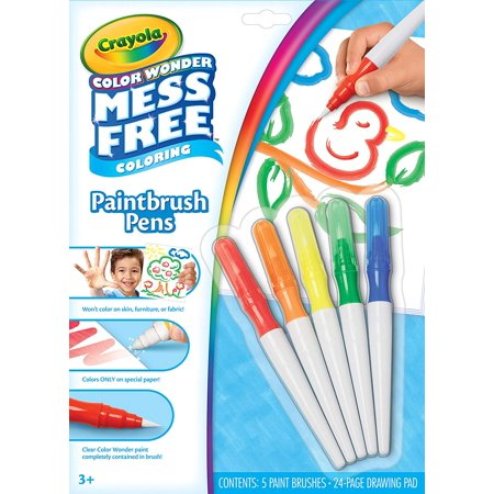 Color Wonder Mess Free Paintbrush Pens & Paper, Painting for Kids, Gift, Color Wonder paint set: this Mess free paint set for kids includes 24 pages of specially.., By Crayola Crayola Color Wonder Finger Paints