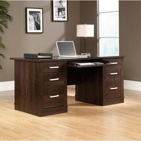 Sauder Furniture 408289 Office Port Executive Computer Desk Dark Wood Finish