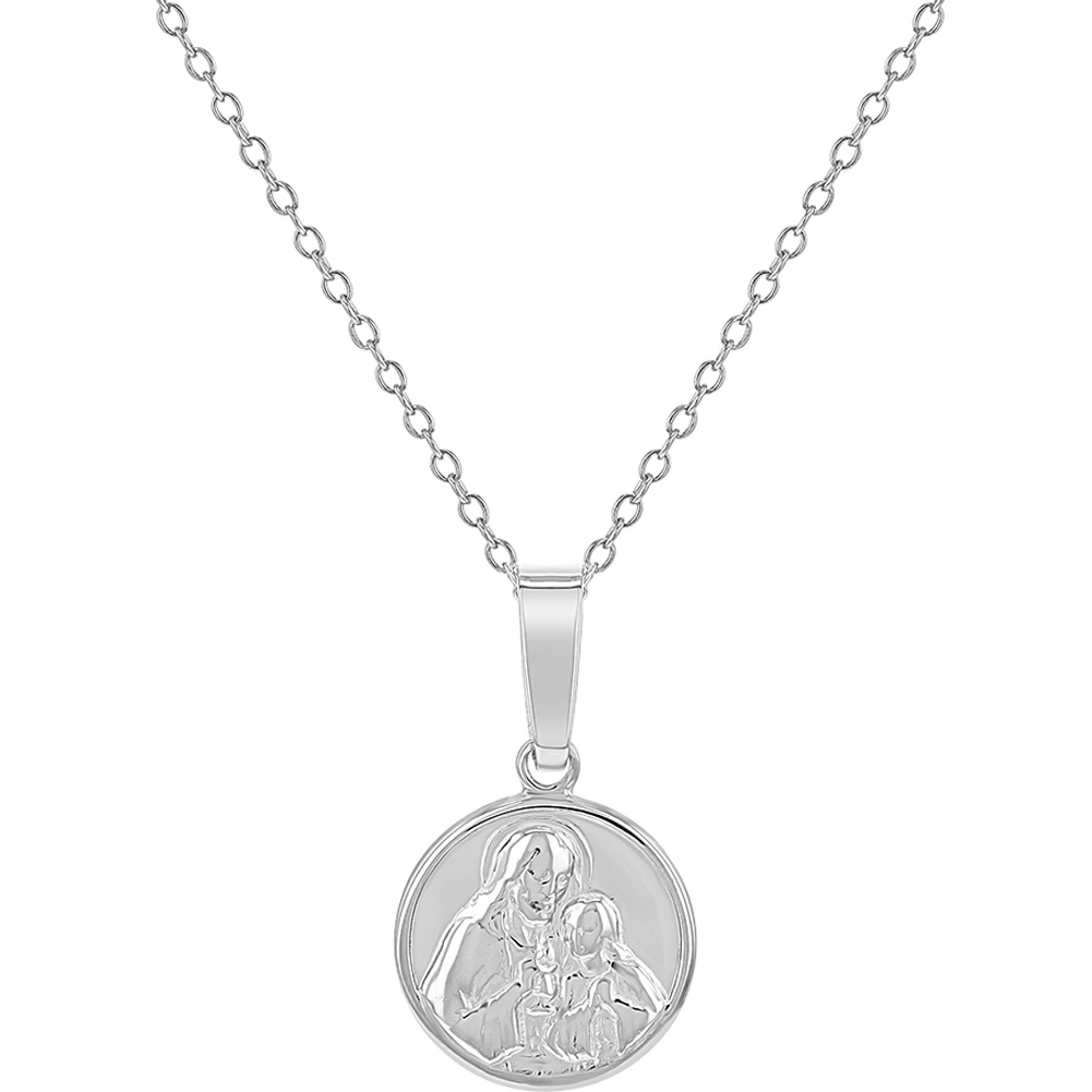 Beautiful Sterling silver 925 sterling Sterling Silver Blessed Mary /& Child Jesus Charm