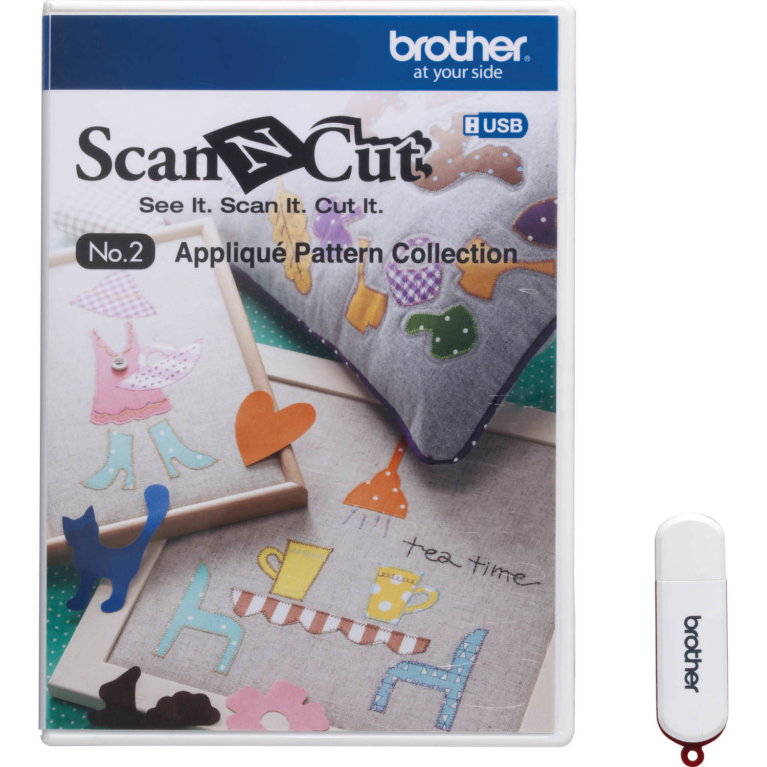 Brother ScanNCut USB No. 2 Applique Pattern Collection