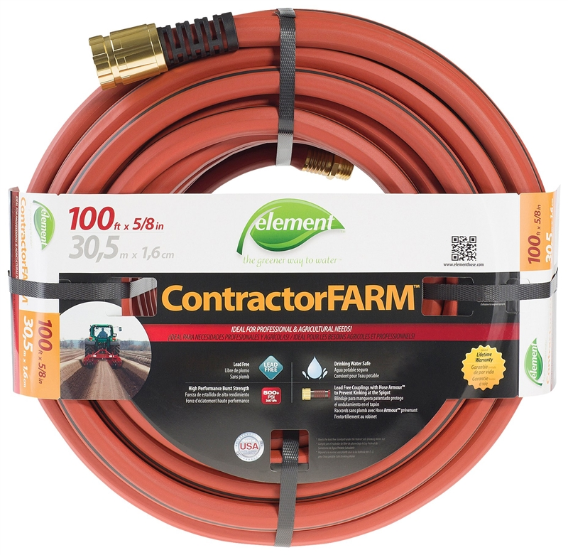 5/8' x 100' Element ContractorFARM Lead-Free Hose