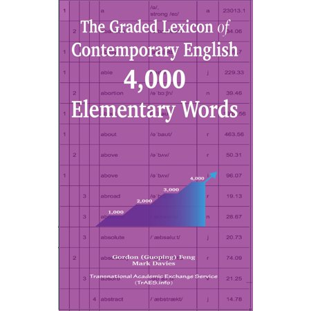 The Graded Lexicon of Contemporary English: 4,000 Elementary Words - eBook (4000 English Words Essential)