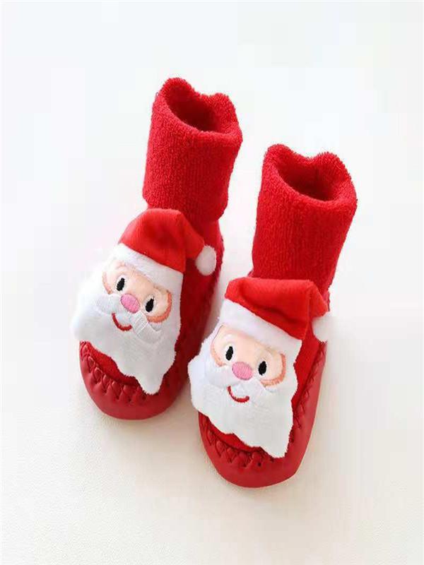 Newborn Baby Cartoon Floor Socks Boys Girls Comfy Warm Anti-Slip Step Soft Sock