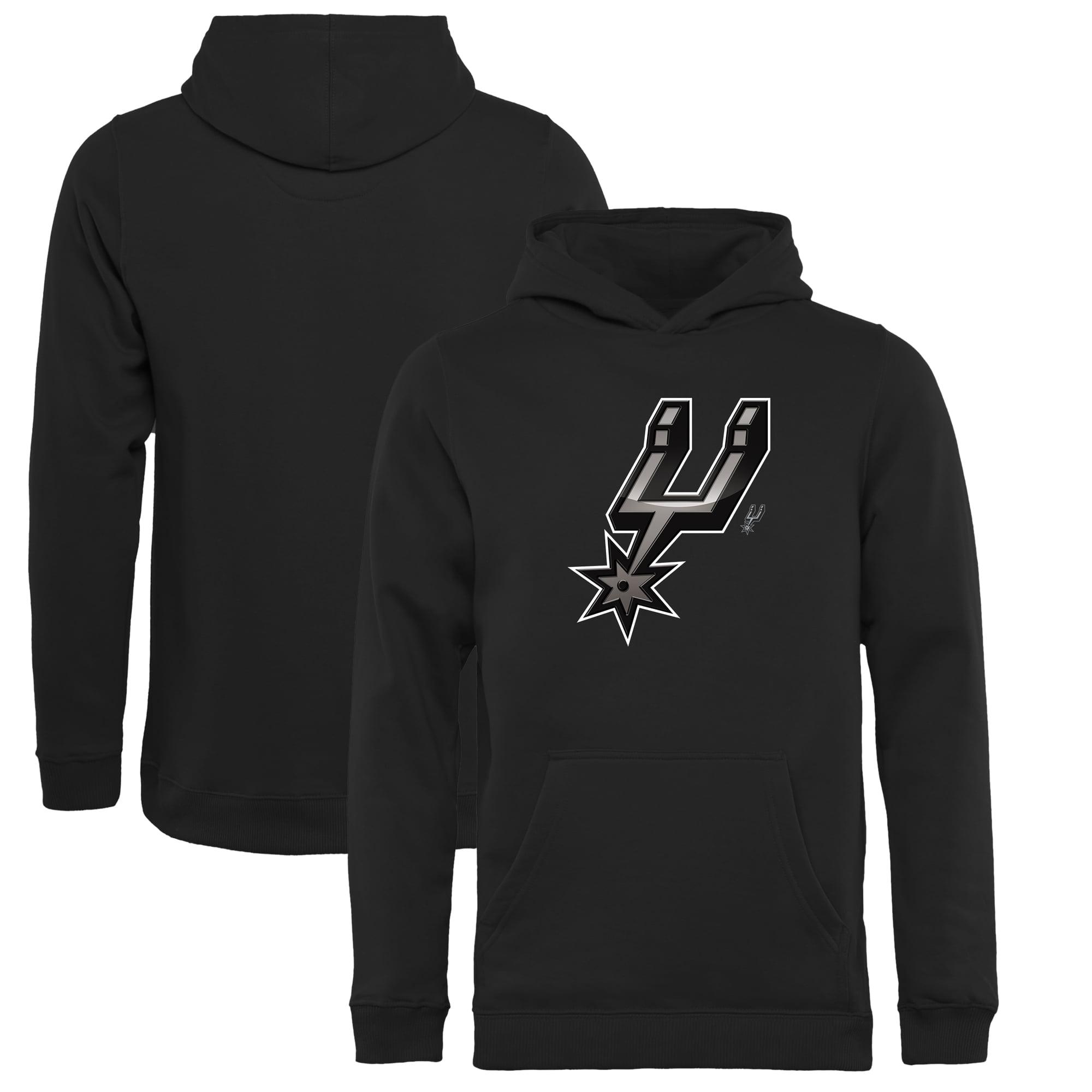 San Antonio Spurs Fanatics Branded Youth Midnight Mascot Pullover Hoodie - Black