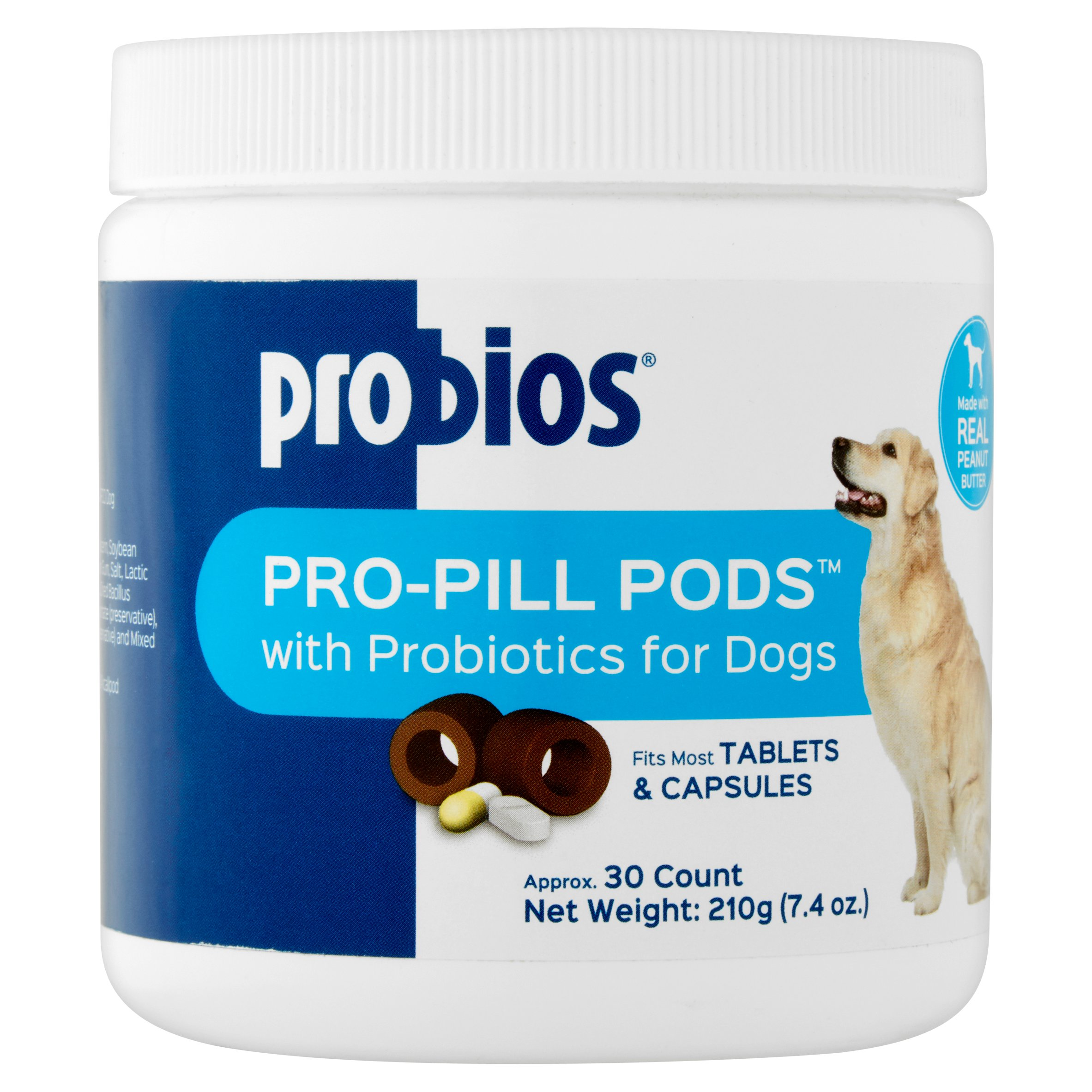 Probios Pro-Pill Pods Tablets & Capsules with Probiotics for Dogs, 30 count, 7.4 oz