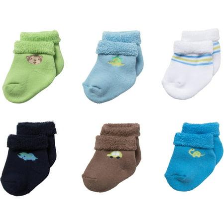 c2b9dd0a5 Gerber - Gerber 6pk Terry Bootie Sock - Boy(b) - Walmart.com