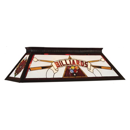 RAM Gameroom Products Billiards Stained Glass Billiard Light - 44W in.