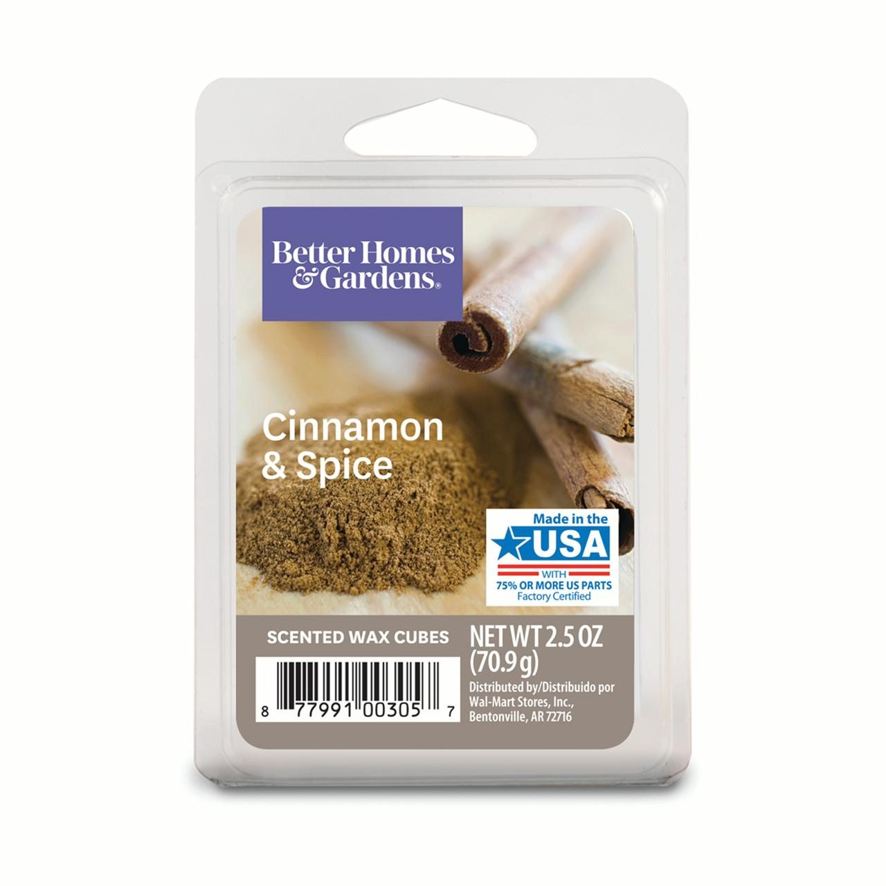 Better Homes and Gardens Wax Cubes, Cinnamon Spice