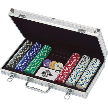300 Ct. Poker Chips 11.5 gram in Aluminum Case (styles will vary) Cardinal - Standard