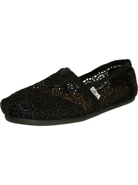 46cc8bfdfc7 Product Image Toms Women s Alpargata Moroccan Crochet Black Ankle-High  Cotton Flat Shoe ...