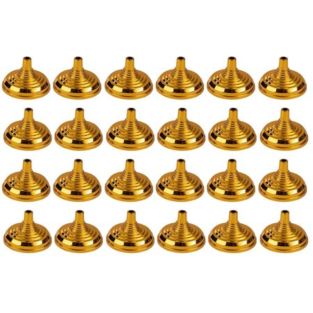 Image of Mini Flag Stands - 24-Pack Table Flag Holders, Mini Flag Bases, Holds 4 X 6-Inch Mini Stick Flags, Ideal For Table Centerpiece, Party Supplies And Decoration, Gold, 2.1 X 1.5 Inches